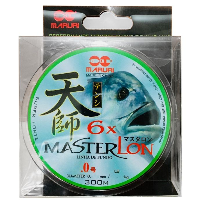 Linha Monofilamento Maruri Master Lon 8.0 20kg (0.46mm - 300m)