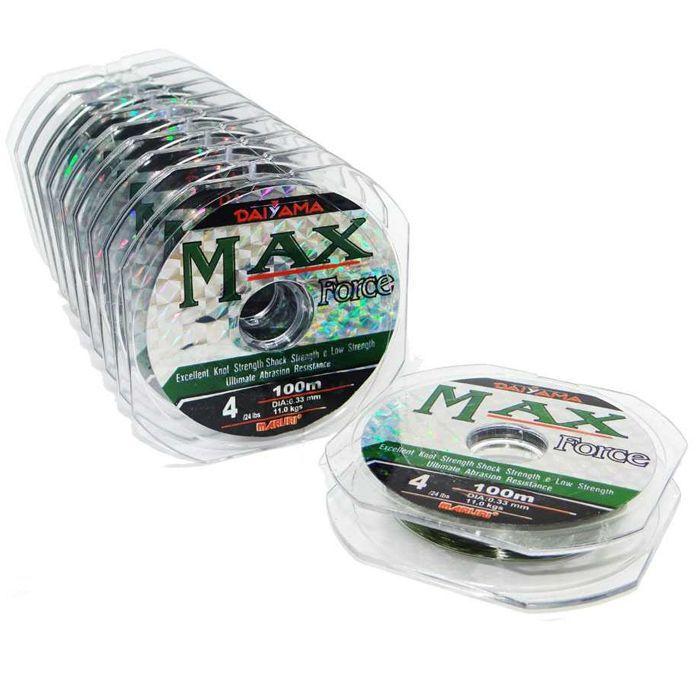 Linha Monofilamento Maruri Max Force 6.0 19.60kg (0.43mm - 1000m)