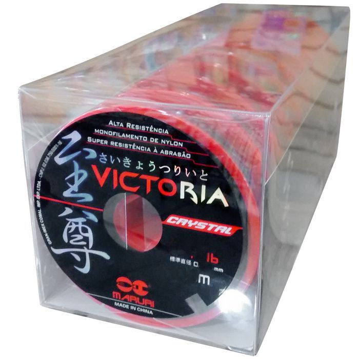 Linha Monofilamento Maruri Victoria Crystal 1.5 08lb (0.20mm - 1000m)