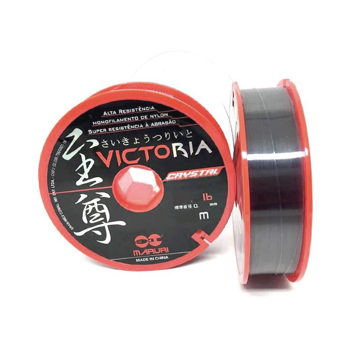 Linha Monofilamento Maruri Victoria Crystal 5.0 24lb (0.37mm - 1000m)