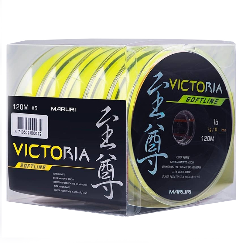 Linha Monofilamento Maruri Victoria Soft Amarela 23lb (0,40mm-600m)