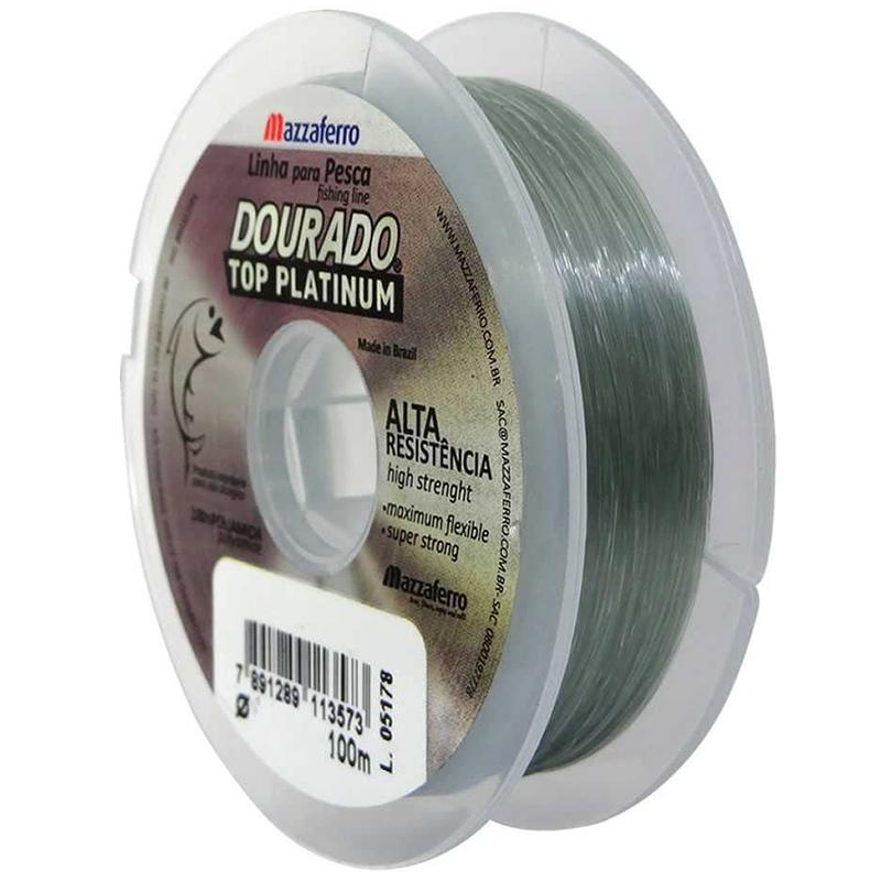 Linha Monofilamento Mazzaferro Dourado Top Platinum 64.5lb (0.70mm-100m)