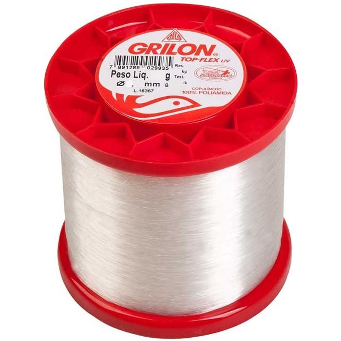 Linha Monofilamento Mazzaferro Grilon Top Flex 08lb (0.25mm - 250g)