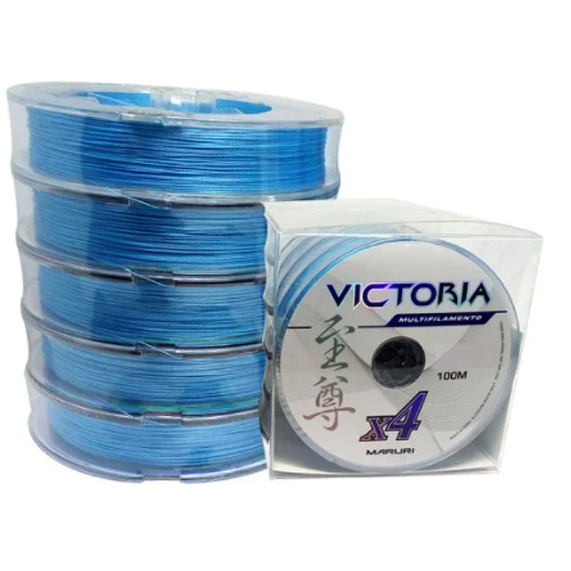 Linha Multif. Victoria 4x 22lbs azul (0,14mm-500m)