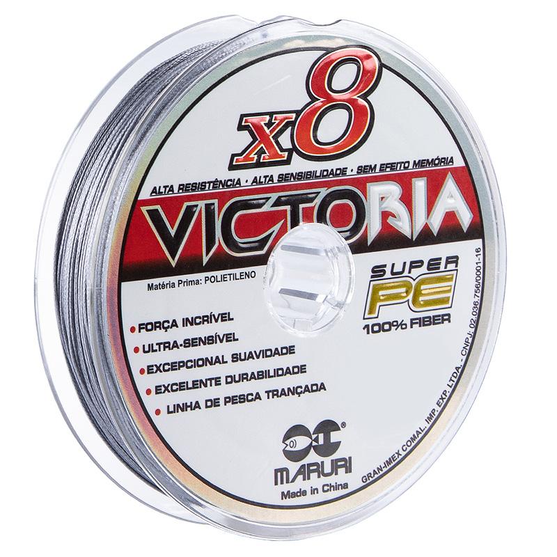 Linha Multif. Victoria 8x 100lbs cinza (0,60mm-100m)