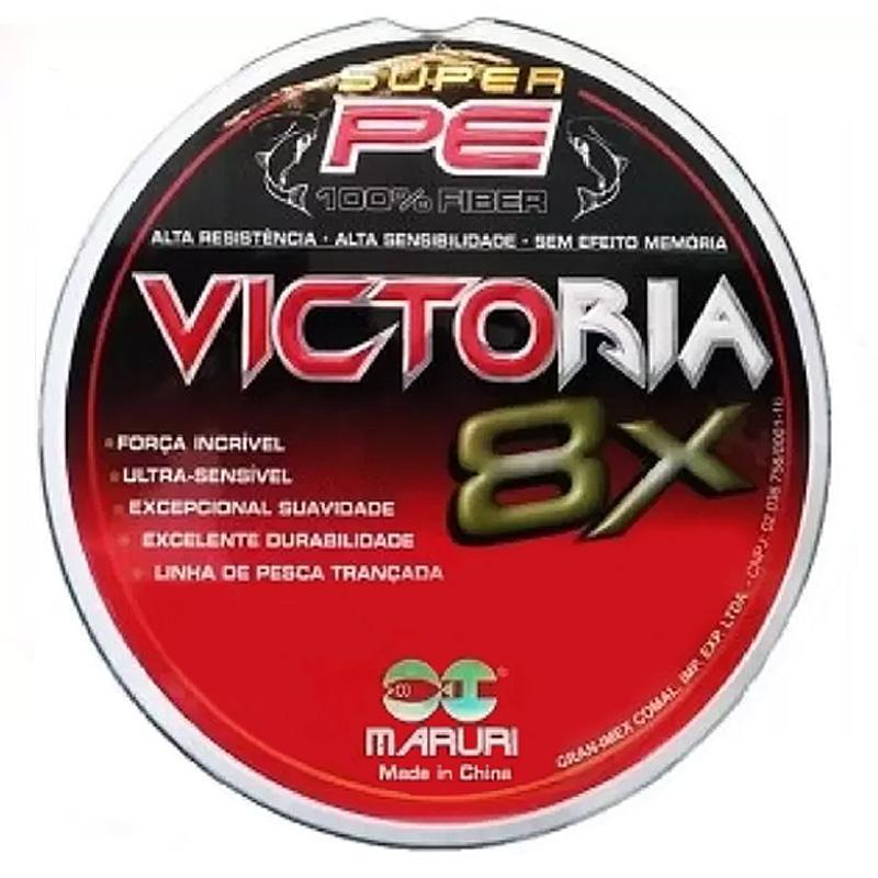 Linha Multif. Victoria 8x 22lbs multicolor (0,18mm-100m)
