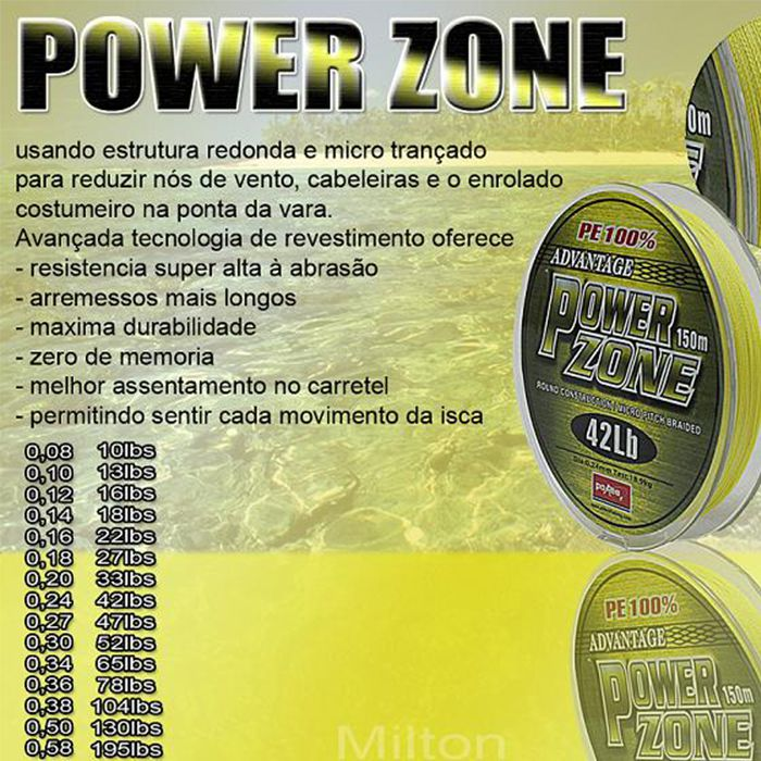 Linha Multifilamento Maruri Power Zone Amarelo (150m)