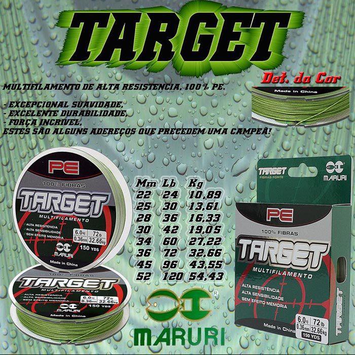 Linha Multifilamento Maruri Target 30Lb (0.25mm - 150m)