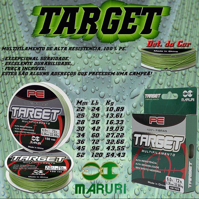 Linha Multifilamento Maruri Target 36Lb (0.28mm - 150m)