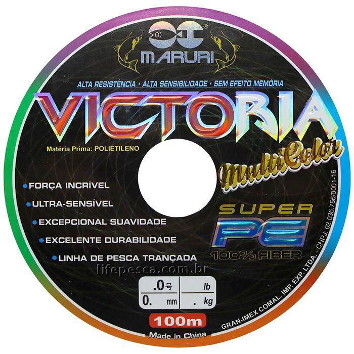 Linha Multifilamento Maruri Victoria 8X Multicolor (1000m)