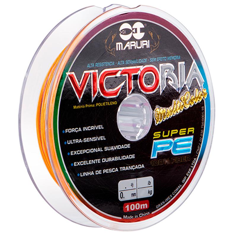 Linha Multifilamento Maruri Victoria 8X Multicolor (100m)