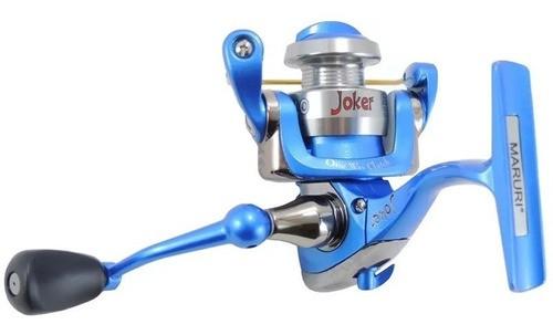 Molinete Maruri Joker (Azul New , Micro, 4 Rol., Carretel em Alumínio )