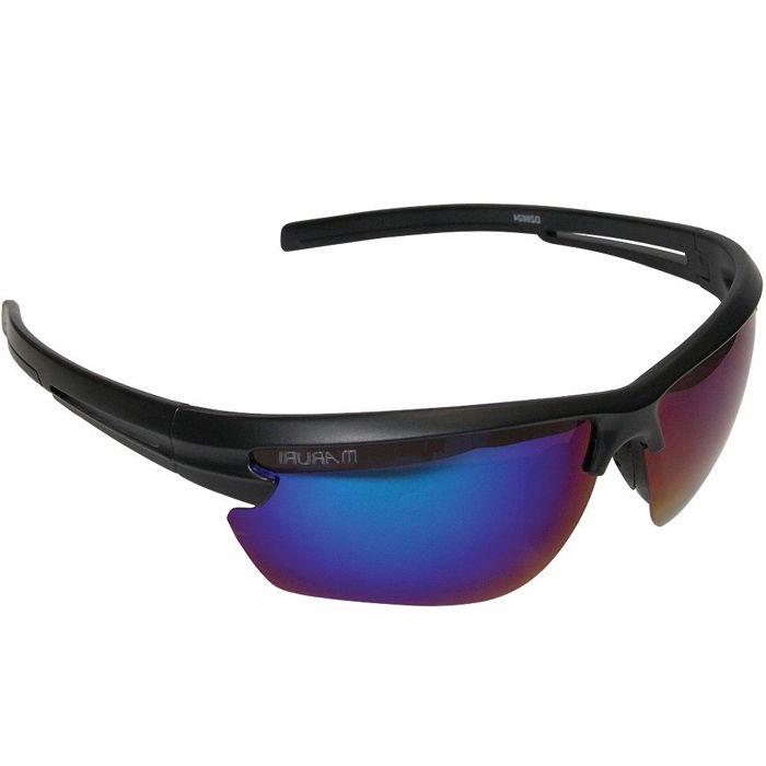 Óculos Polarizado Maruri 6624 (Preto/Espelhado Azul)