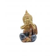 Buda Cego | Surdo | Mudo | Dourado/Azul