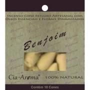 Incenso Cone Benjoin | 10 Cone Refluxo