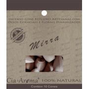Incenso Cone Mirra | 10 Cone Refluxo