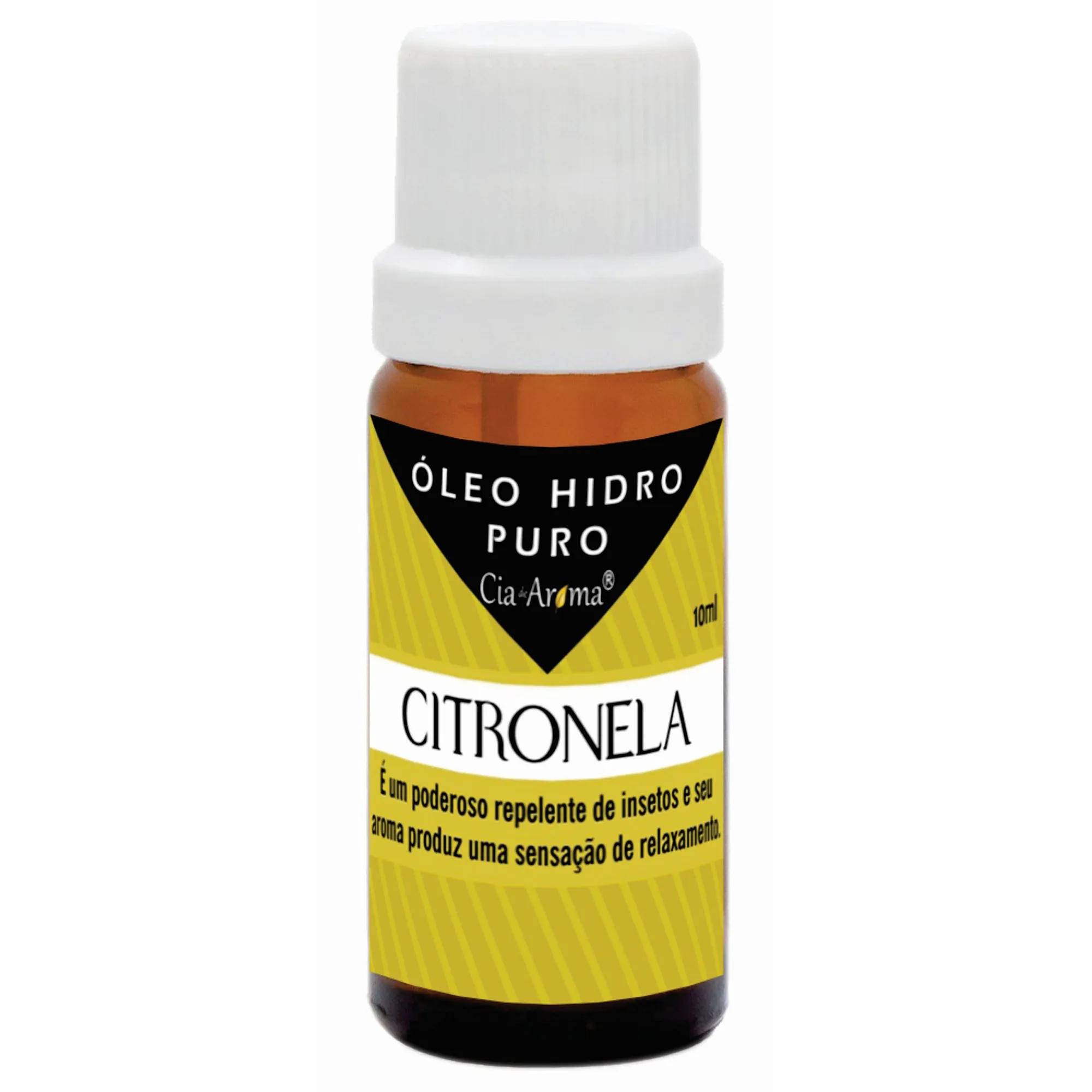 Essência Citronela | Óleo Hidrossolúvel Puro | 10 ml