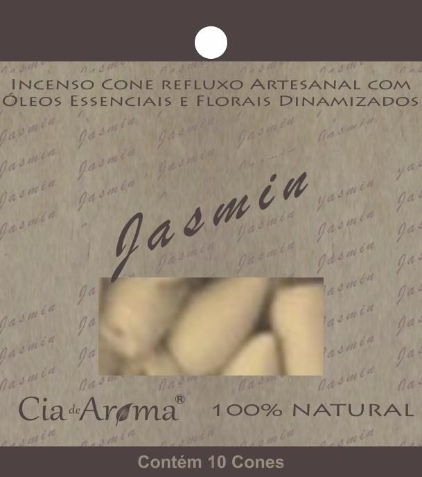 Incenso Cone Jasmin | 10 Cone Refluxo