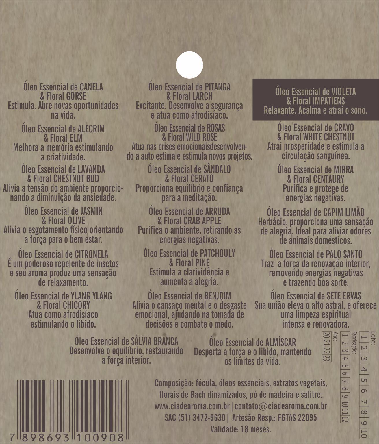 Incenso Cone Violeta | 10 Cone Refluxo