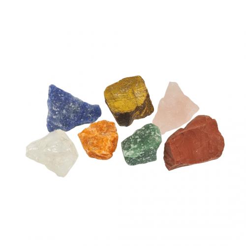 Kit 7 Pedras dos Chakras Brutas Naturais