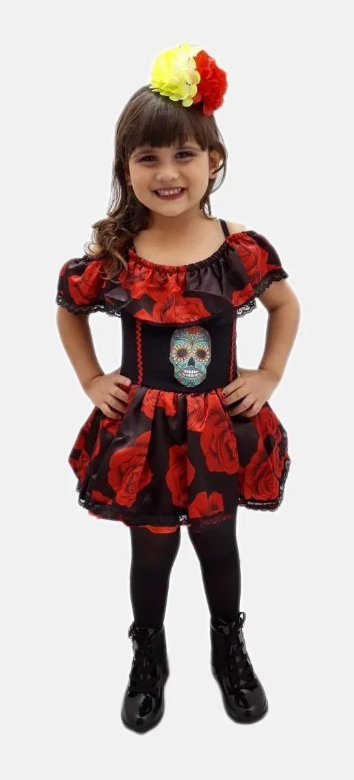Fantasia Caveira Mexicana Infantil