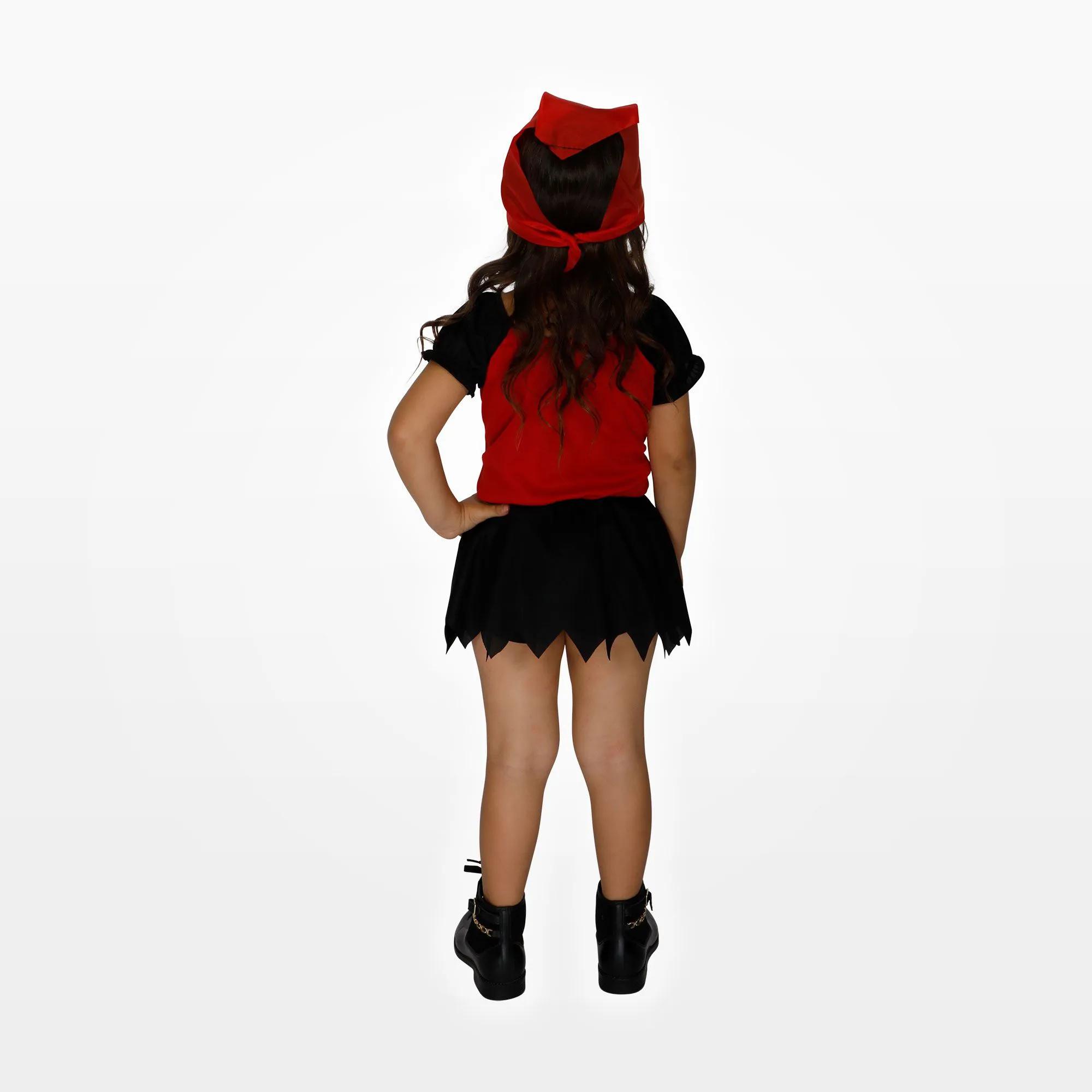 Fantasia de Pirata Infantil Feminino