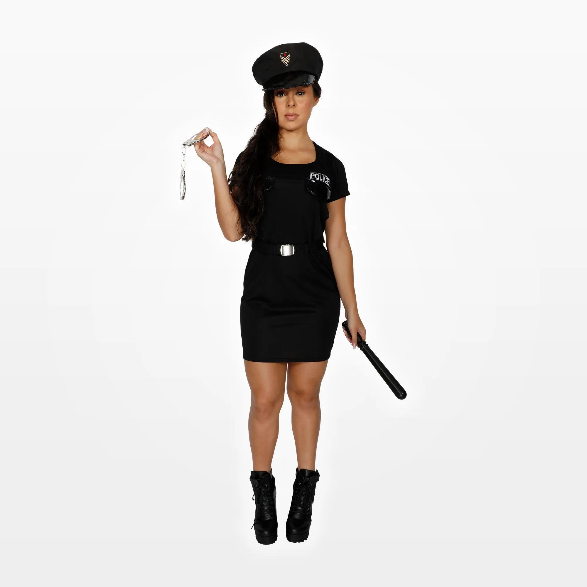 Fantasia Policial Vestido Feminino Adulto