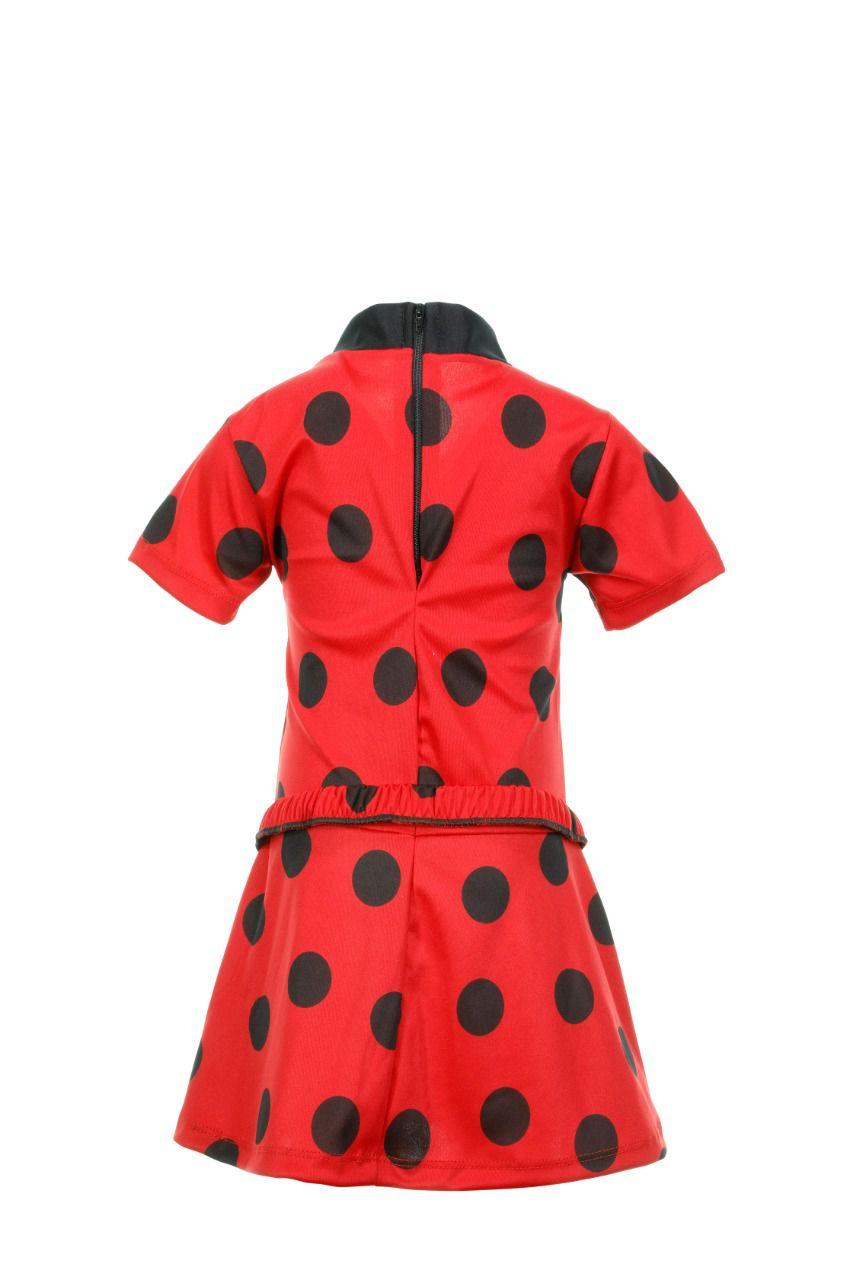 Fantasia Lady Bug Vestido Infantil
