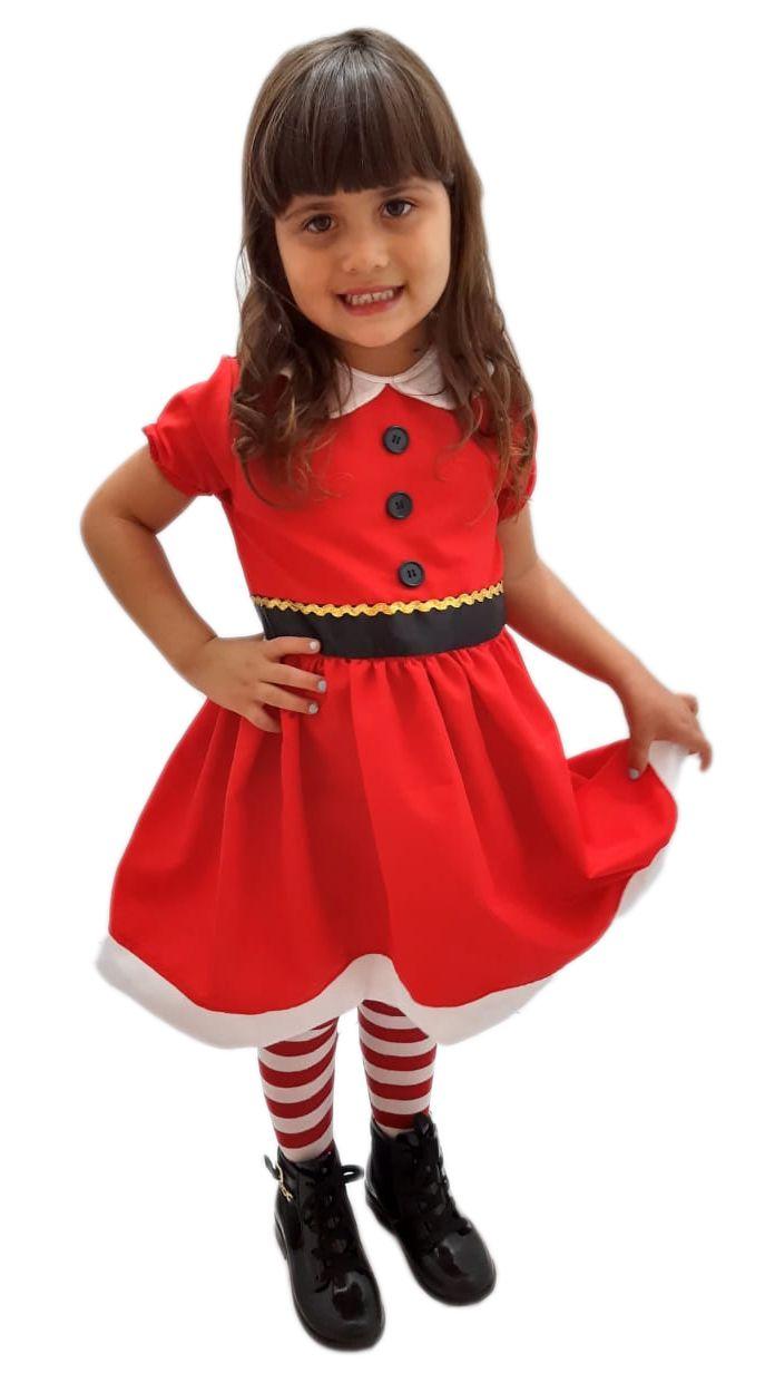 Fantasia Infantil Mamãe Noel 2