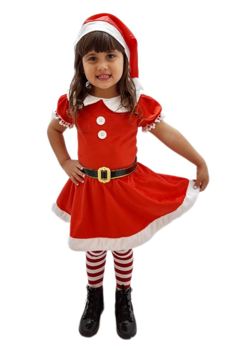 Fantasia Infantil Mamãe Noel