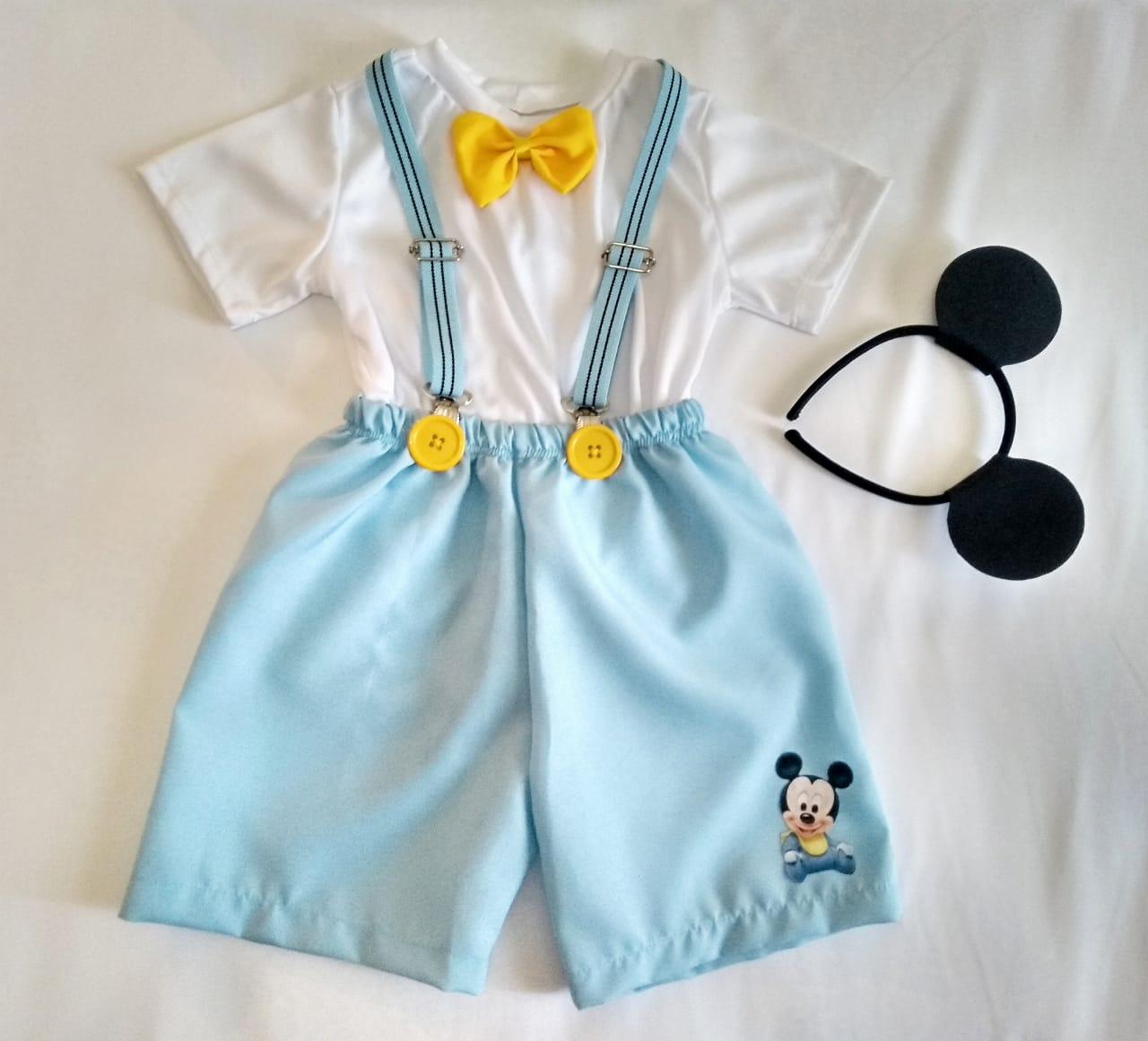 Fantasia Mickey Mágico + Mickey Baby Infantil