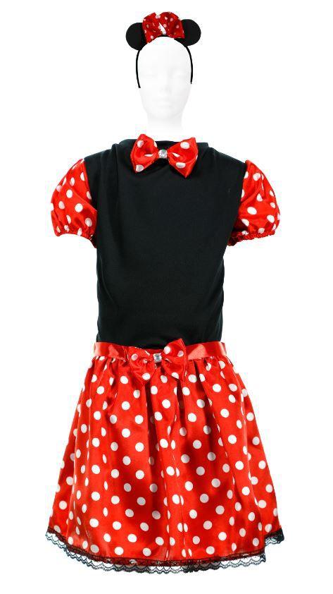 Fantasia Minie Vestido Infantil