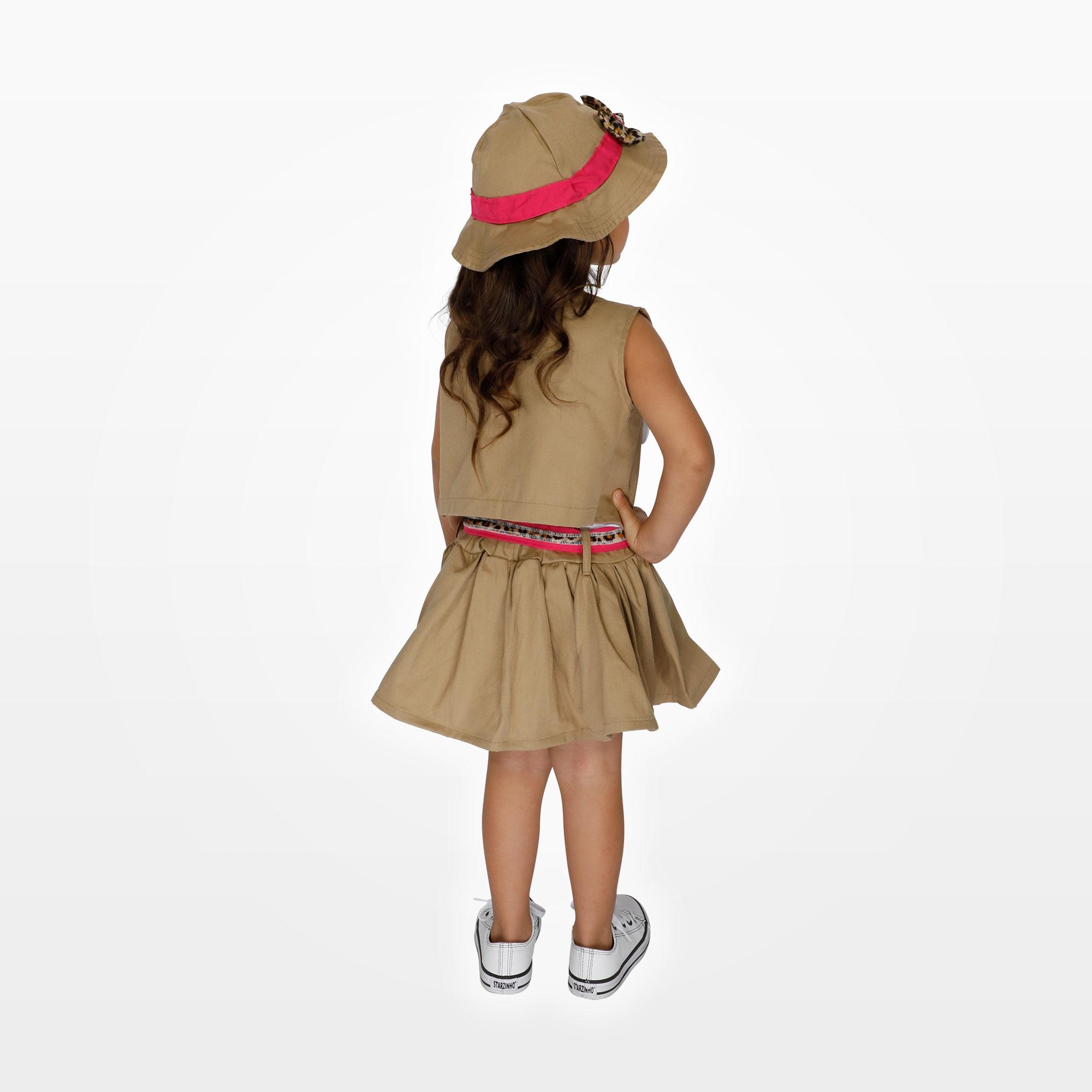 Fantasia Safári Feminino Infantil