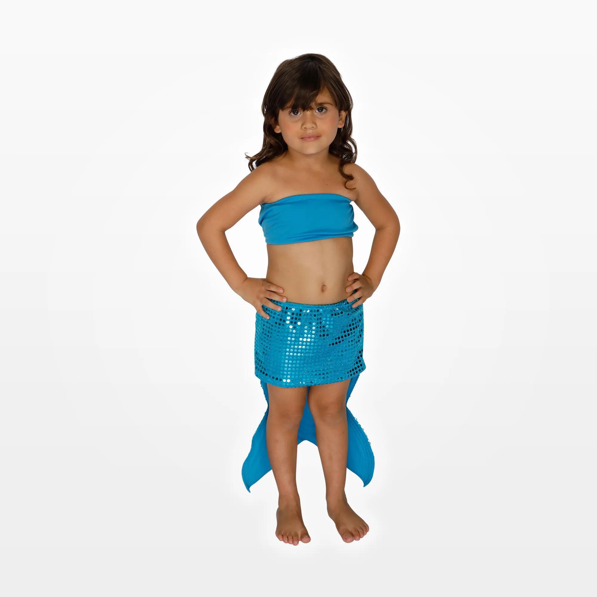 Fantasia Sereia Saia e Top Infantil