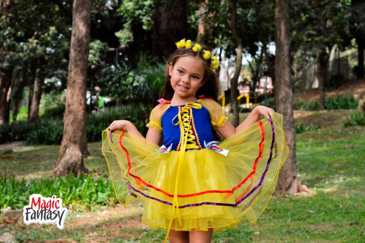 Vestido Junino Amarelo