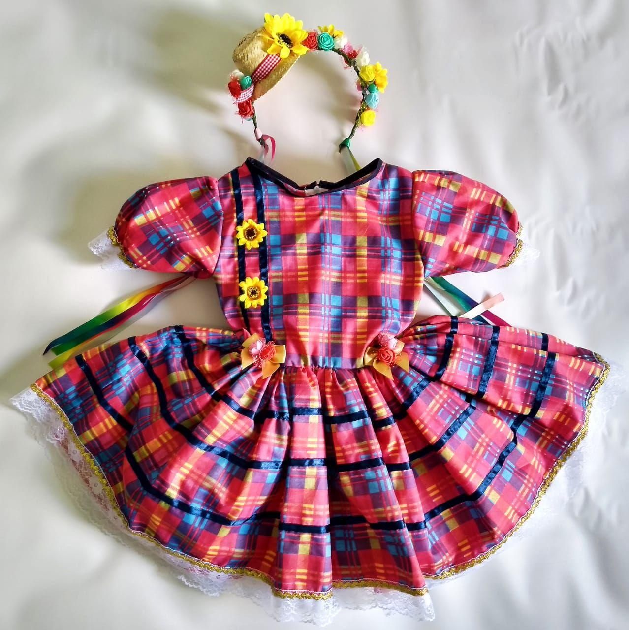 Vestido Junino Rosa