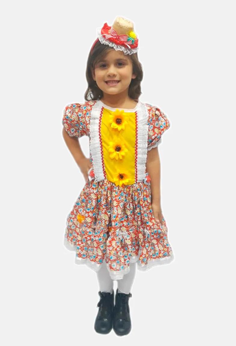Vestido Junino Vermelho Infantil