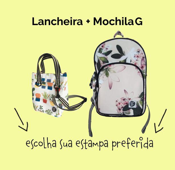 """Compre Junto """"Lancheira + Mochila G"""""""