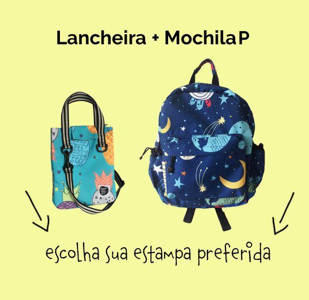 "Compre Junto ""Lancheira + Mochila P"""