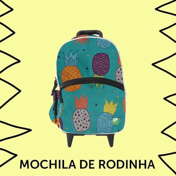 Mochila de Rodinhas Abacaxis