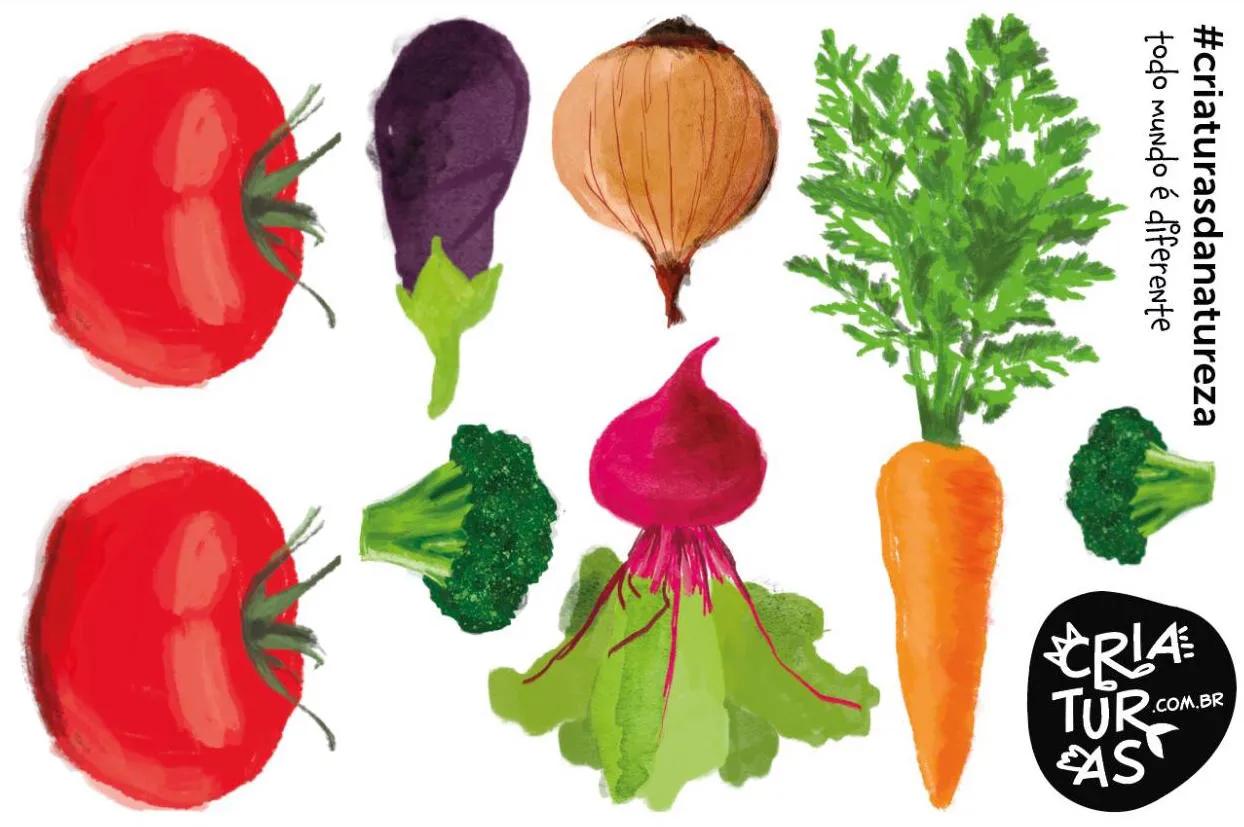 Tatuagem Temporária - Legumes