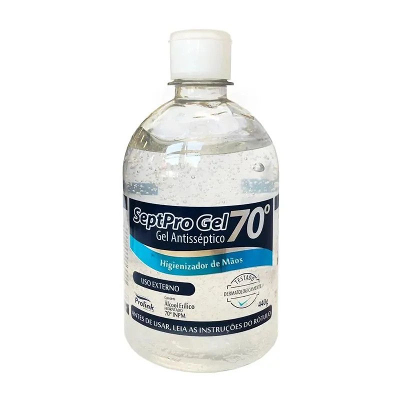 GEL ANTISSEPTICO SEPTPRO 70 440GR