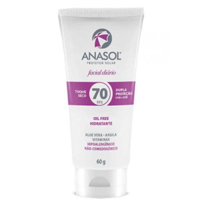 Hidratante facial com protetor FPS 70 AnaSol