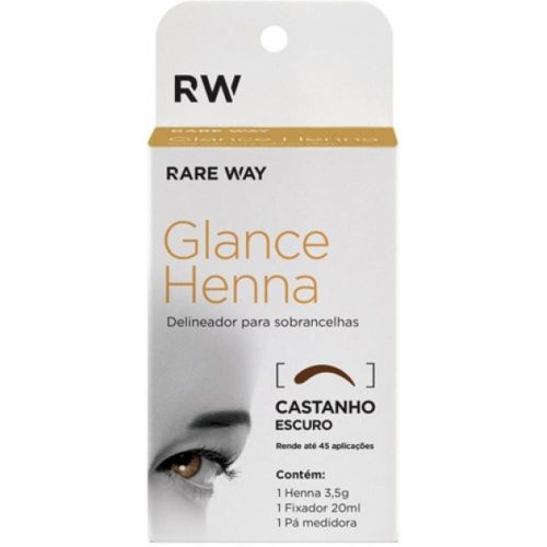Kit Glance Henna Castanho Escuro 3,5g
