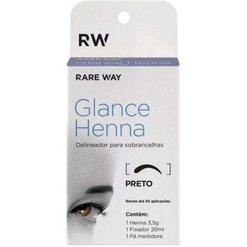 Kit Glance Henna PRETO 3,5g