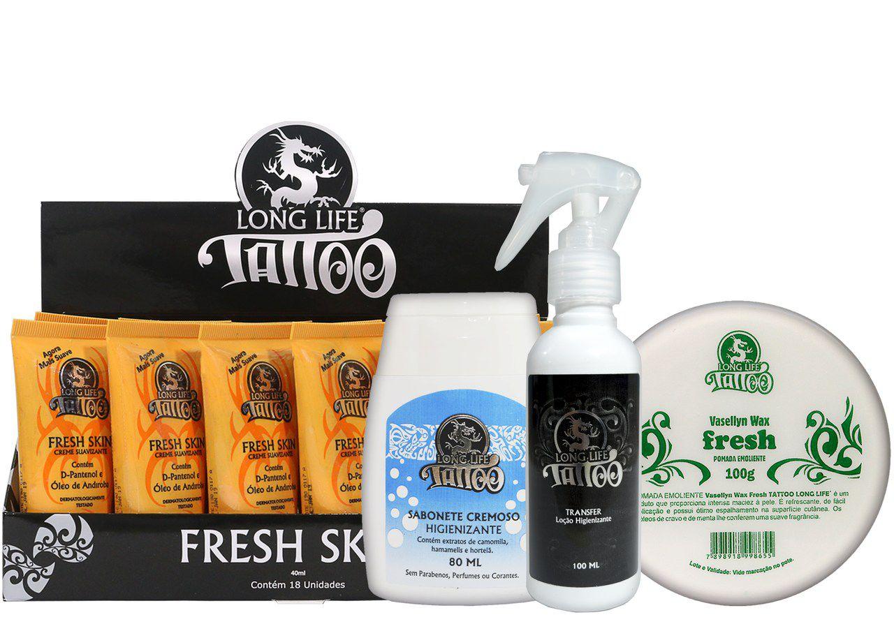 Caixa Fresh Skin (18 un.) + Sabonete Cremoso 80ml + Vasellyn Fresh 100g + Transfer Loção 100 ml