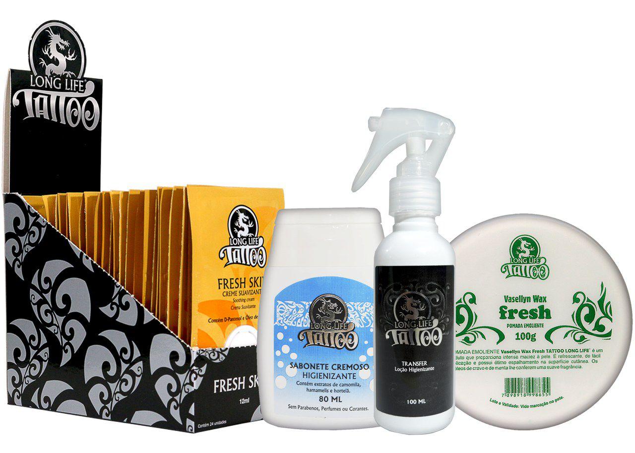 Caixa Fresh Skin Sachê (24 un.) + Sabonete Cremoso + Vasellyn Fresh 100g + Transfer Loção