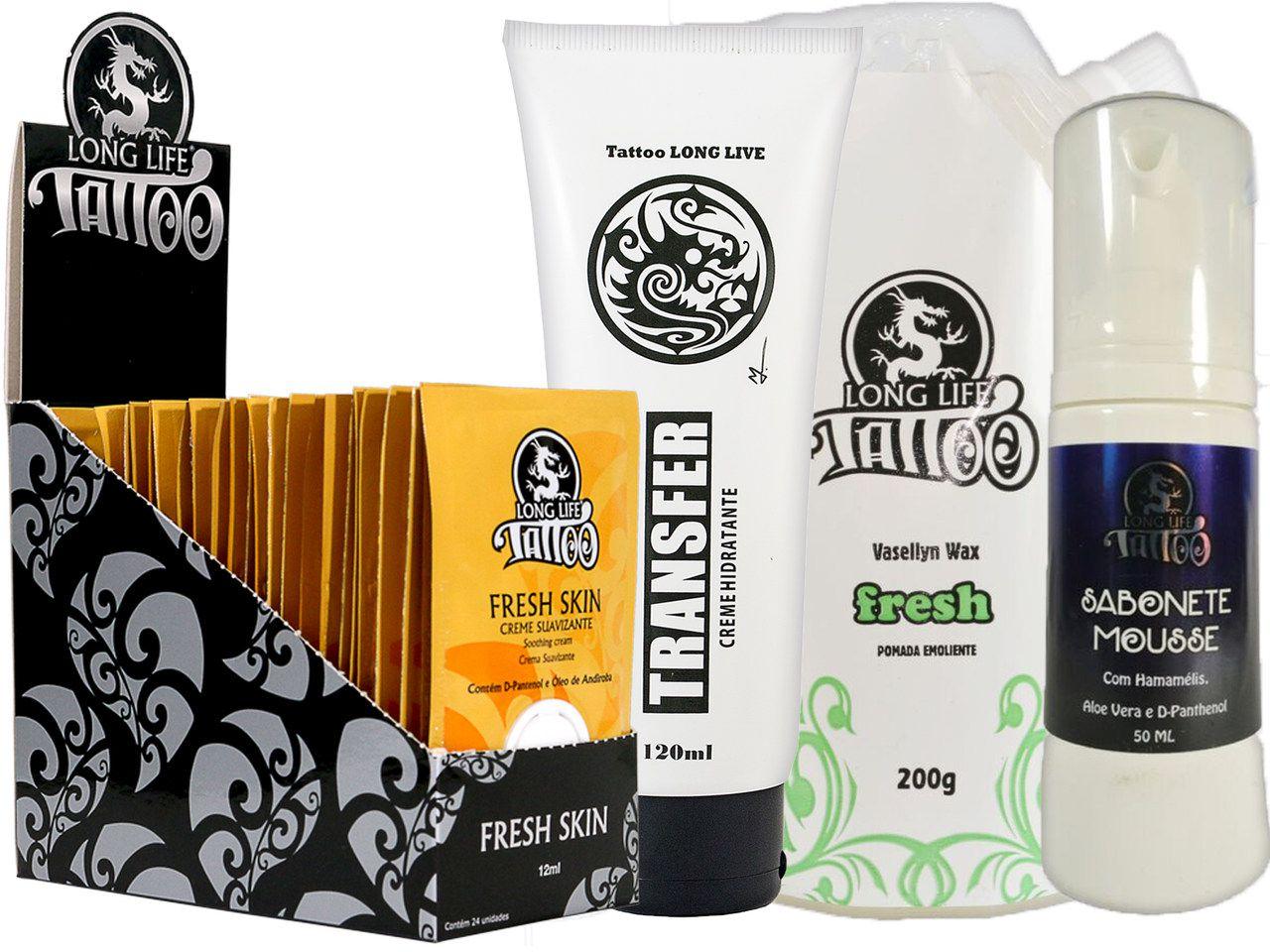 Caixa Fresh Skin Sachê (24 un.) + Sabonete Mousse + Vasellyn Fresh 200g + Transfer Creme