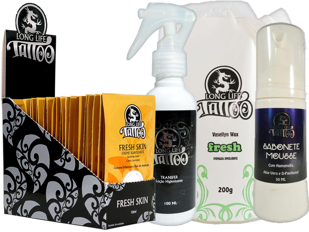 Caixa Fresh Skin Sachê (24 un.) + Sabonete Mousse + Vasellyn Fresh 200g + Transfer Loção