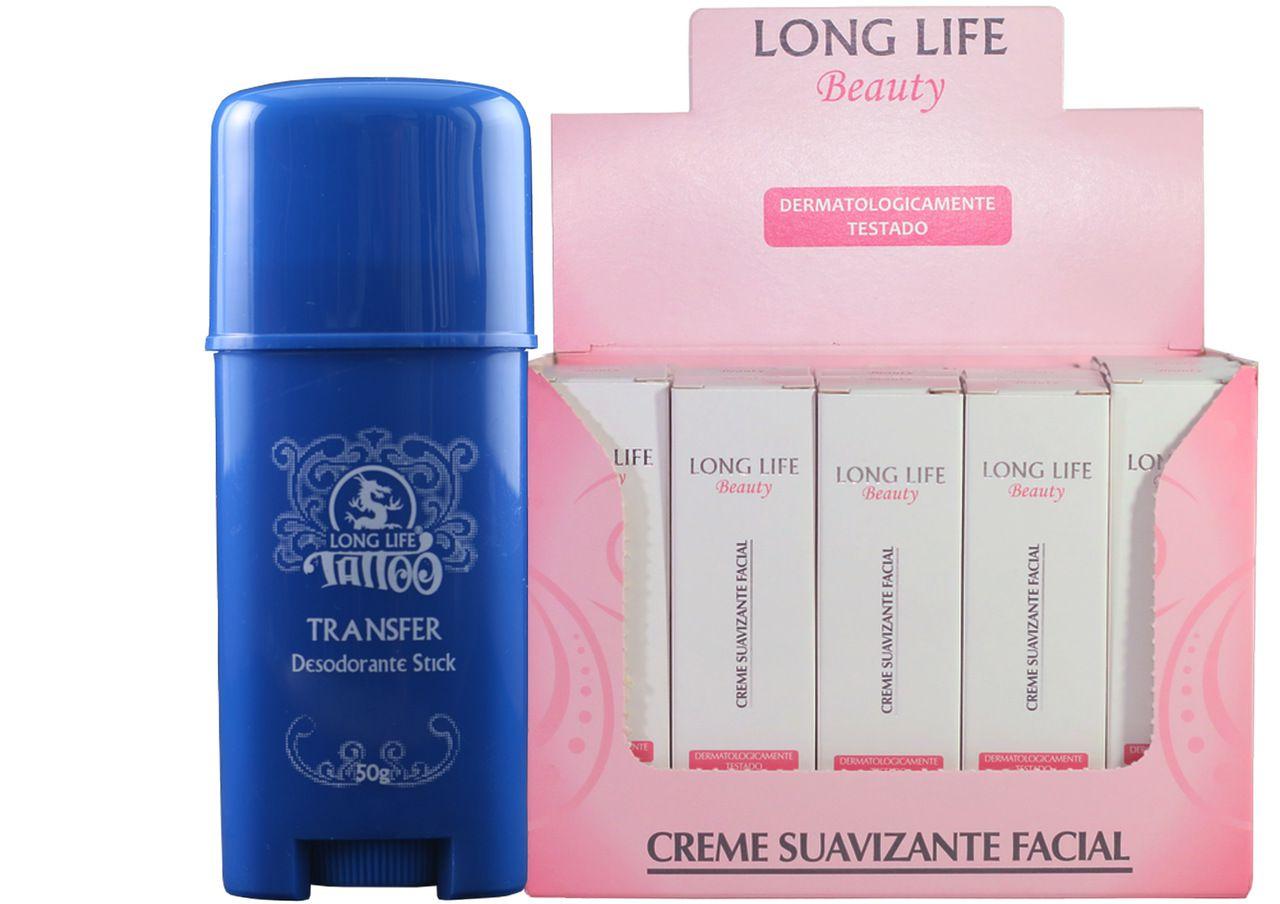 Creme Suavizante Facial Beauty 12g - Caixa com 20 unds + Transfer Stick 50g